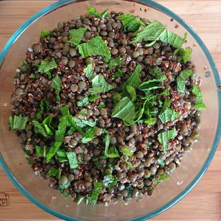 Avocado lentil salad as part of today's Eating For Health talk. The next talk I'm giving is on 6/25, 7pm at More Mojo. It's free and open to everyone! | by Club Dine In!