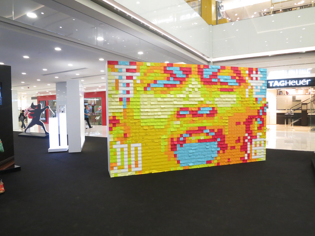 Postit pixel art wall   graphicairlines   Flickr