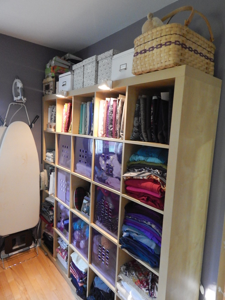 sewing room: 5x5 ikea expedit storage | blogged at sometimes… | flickr
