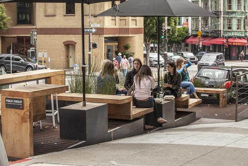 Reveille Coffee Parklet by Cameron Helland and Sagan Piechota Architecture. Photo by Samuel Heller. | by sfplanning