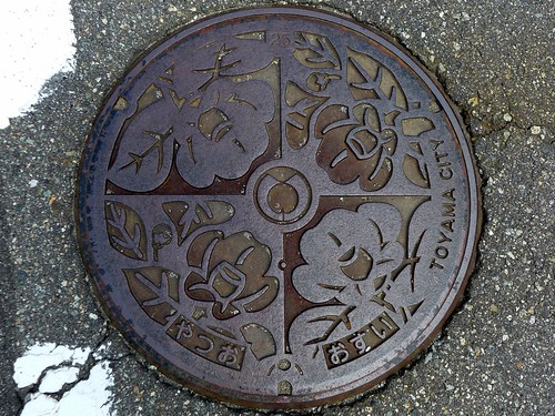 Yatsuo Toyama, manhole cover (富山県八尾町のマンホール)
