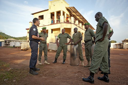 UN Police in Central African Republic | by Mission des Nations Unies en RCA
