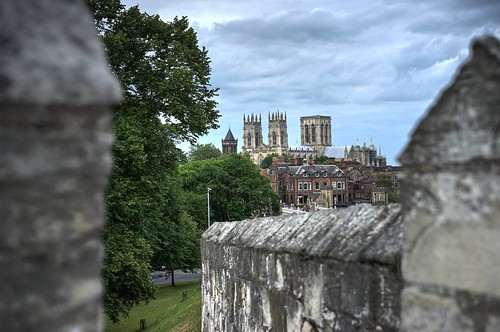 York Minster from city wall | by Derringdos