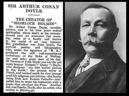 7th July 1930 - Death of Sir Arthur Conan Doyle | by Bradford Timeline
