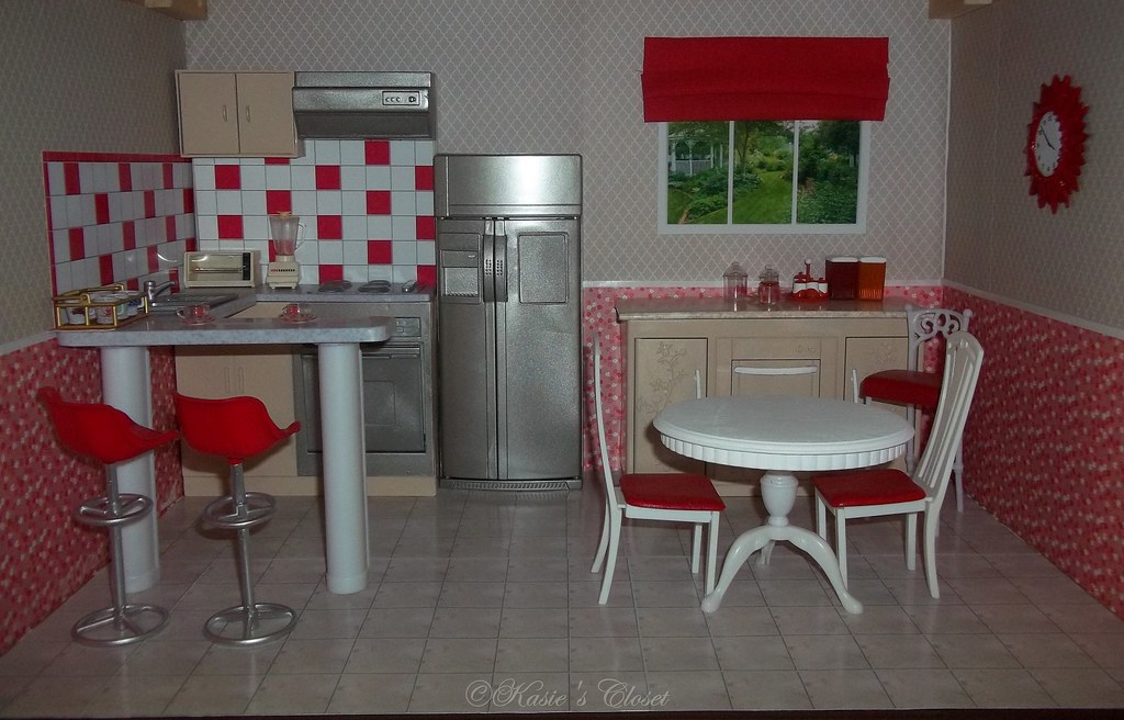 Incroyable ... Painted Gloria Barbie Furniture Kitchen | By KasiesCloset