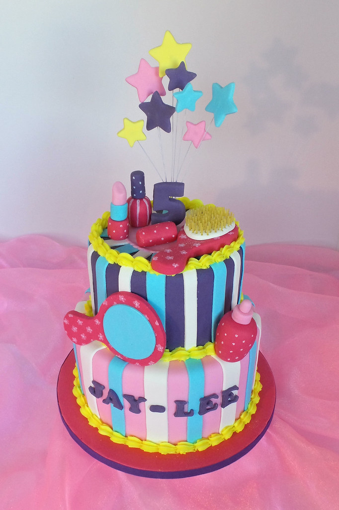 Spabeauty Products Themed Birthday Cake Design Was Brough Flickr