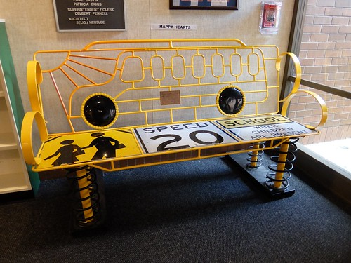 School Bus Bench