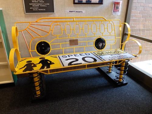School Bus Bench