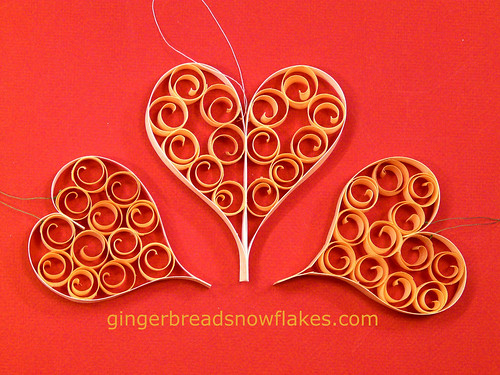 Festive Heart ornaments | by gingerbread_snowflakes