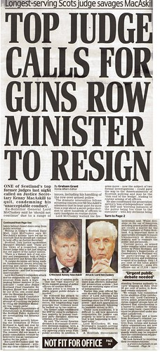Top judge calls for guns row minister to resign 27 August 2014 Daily Mail | by mediascot