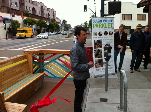 Portable Parklet:  Ocean Ave CBD / Out of Site | by sfplanning
