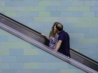Couple on Escalator, kissing | by kohlmann.sascha