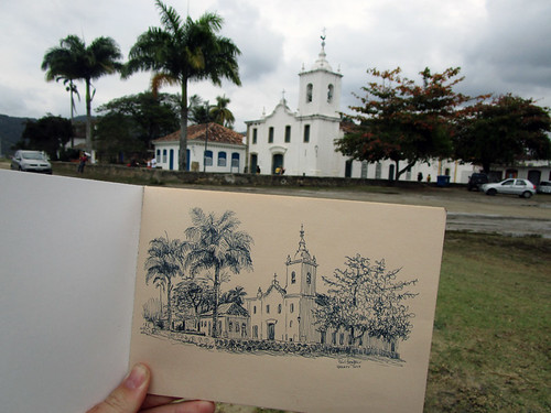 auction sketch, Paraty | by paul heaston