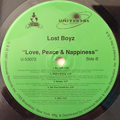 LOST BOYZ:LOVE,PEACE AND NAPPINESS(LABEL SIDE-B)