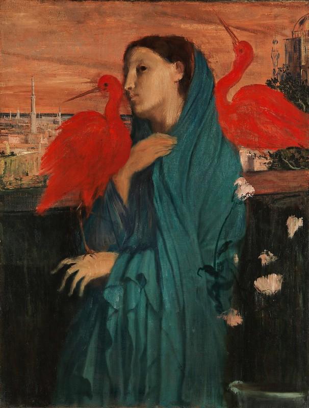 Edgar Degas - Young Woman with Ibis (c.1861)