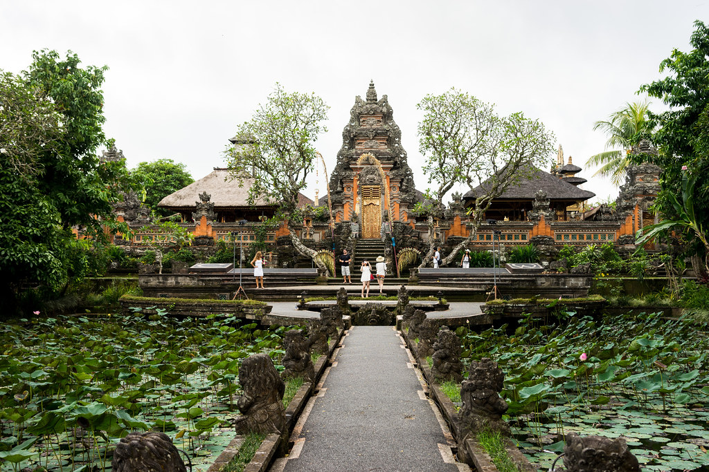 Pura Taman Saraswati and Lotus Pond, near the Starbucks in Ubud, Bali
