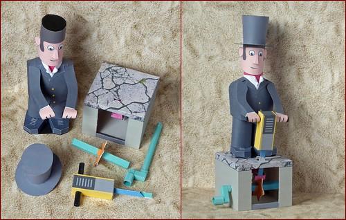 """Paper model """"Jack Hammer"""""""
