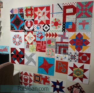 pat sloan birthday block quilt back making1 | by quilterpatsloan