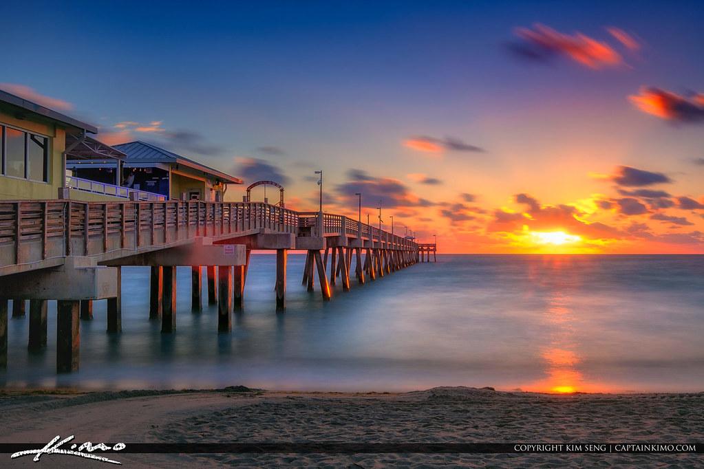 Dania Beach Fishing Pier Sunrise Over Broward County Flori Flickr