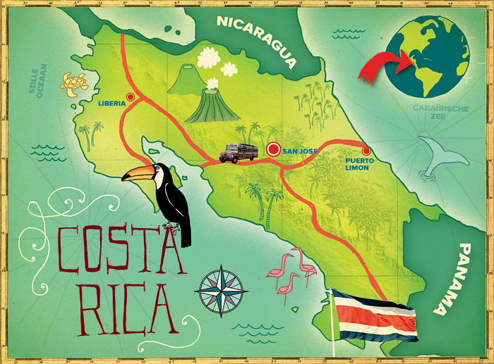 illustrated costa rica map MAKI Flickr