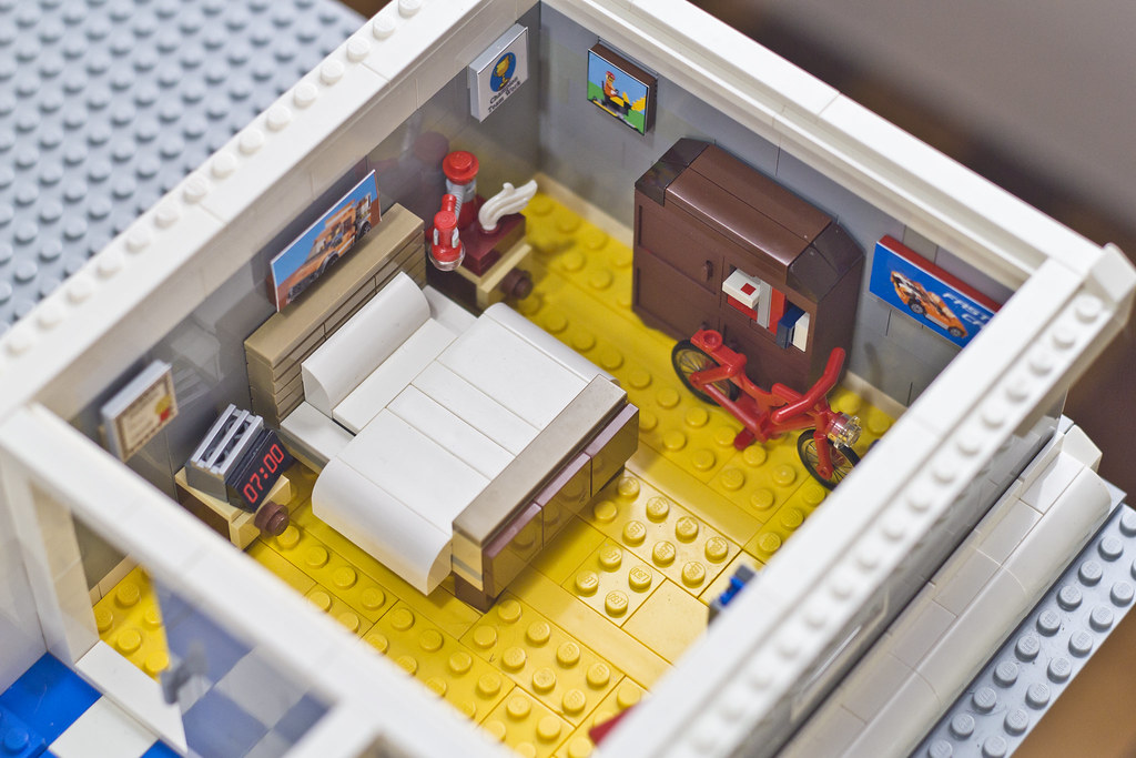 ... The LEGO Movie: Emmetu0027s Apartment Bedroom | By Doug Bowker