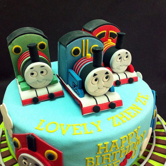 Hand Sculpted Thomas And Friends Birthdaycake Htbirthda Flickr