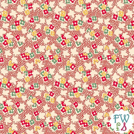 Round 4 Back Porch Prints Mini Floral Red Wilmington | by MissouriMel
