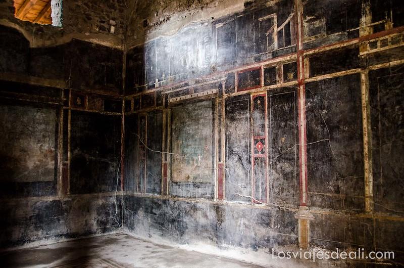 visita a Pompeya decoración interior