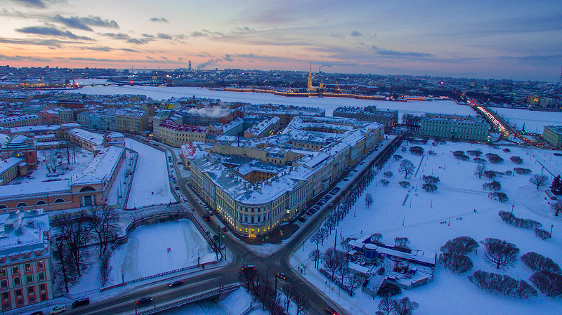 Winter St.Petersburg cityscape