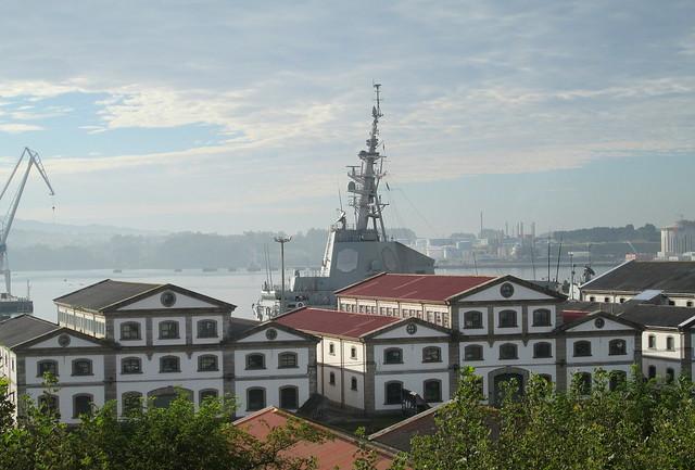 Naval Ship Docked in Ferrol