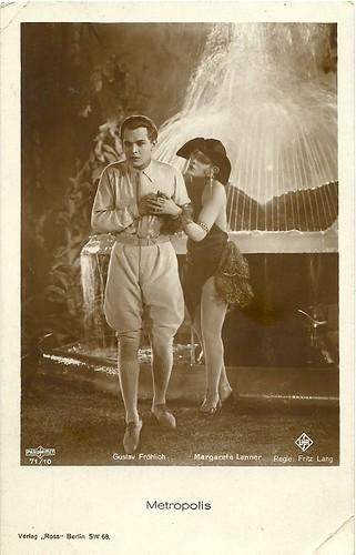 Gustav Fröhlich and Margarete Lanner in Metropolis