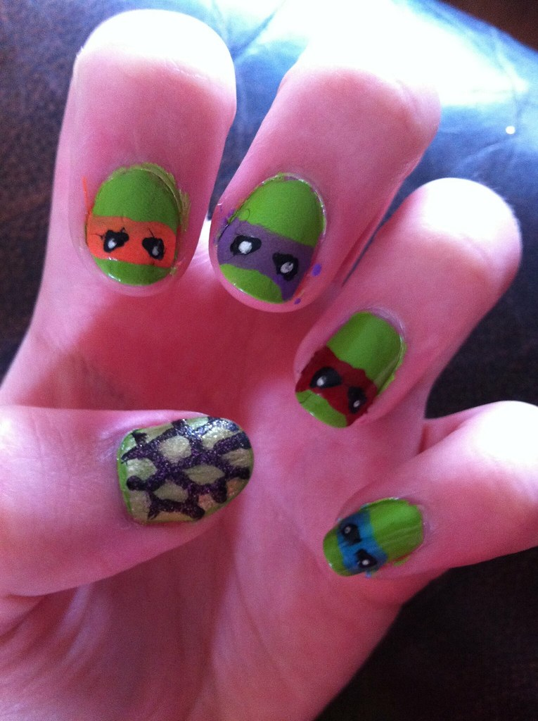 TMNT nails! | So I\'m heading out to go see the new Teenage M… | Flickr