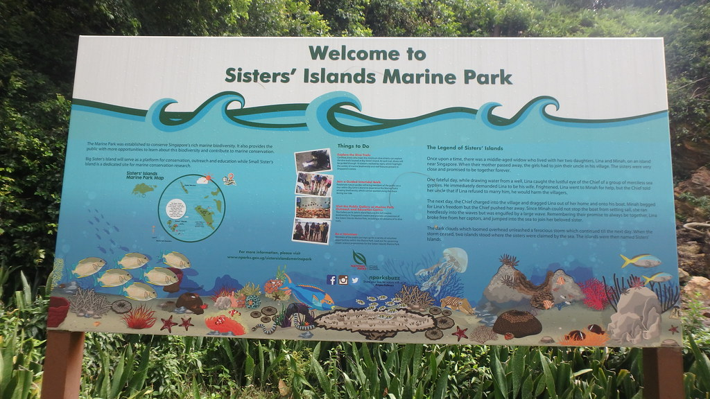 Big Sisters Islands information panel