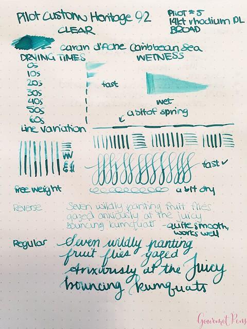 Review Pilot Custom Heritage 92 Fountain Pen - Broad @PilotPenUSA @PenChalet 2