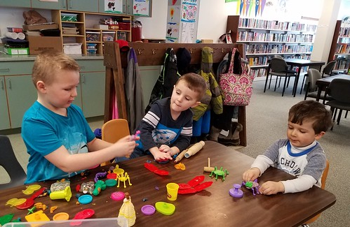 play dough at the library