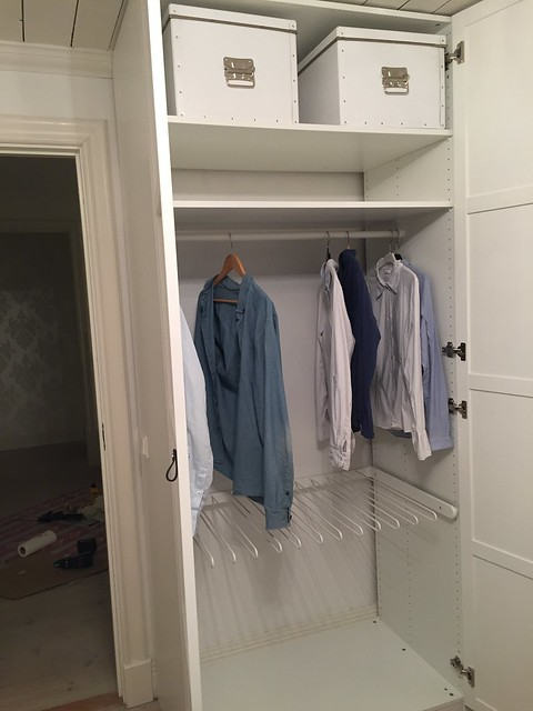Ny garderob i sovrummet