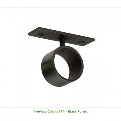 resin ceiling bracket for drapery pole curtain rod hardware by