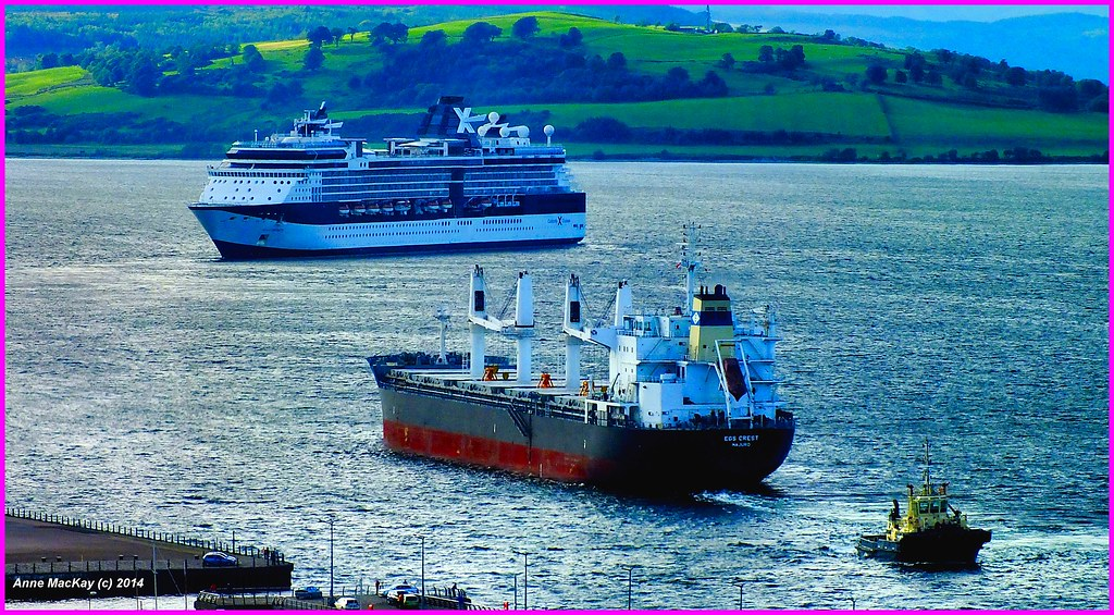 Scotland Cruise Ship Celebrity Infinity And Cargo Ship EGS Flickr - Cargo cruise ship