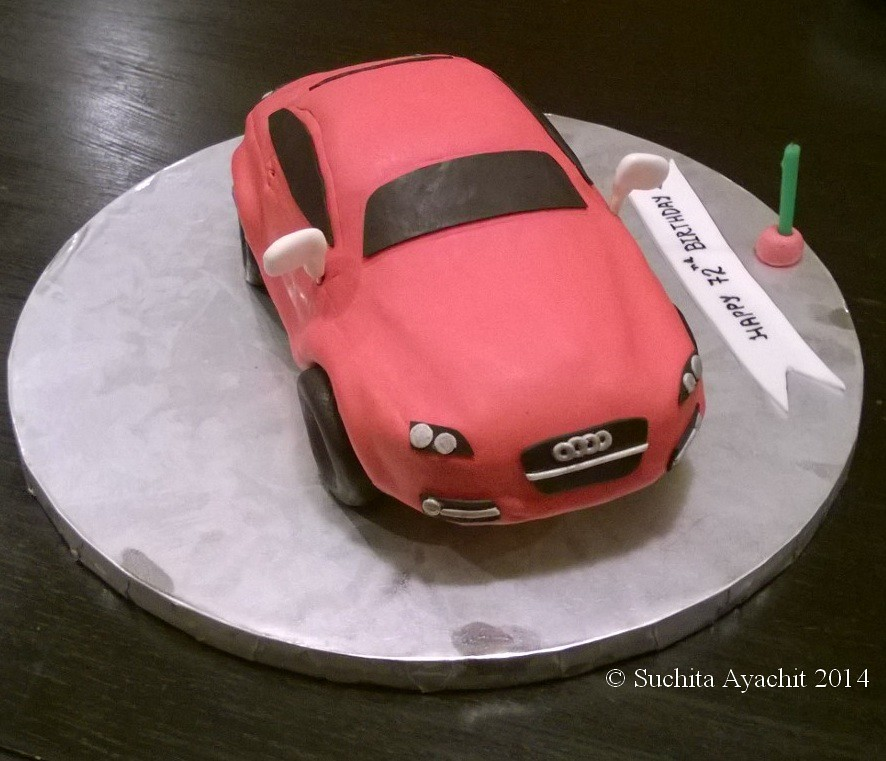 Car Cake Vanilla Cake With Chocolate Buttercream Covered Flickr