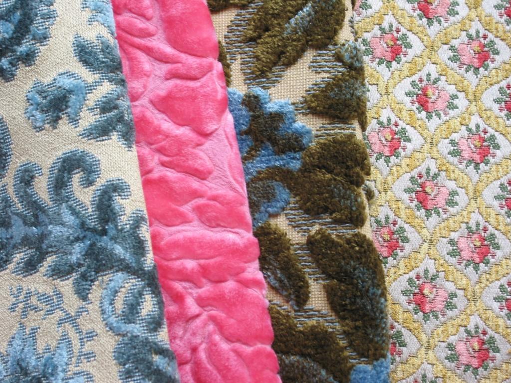 Vintage Cut Velvet Fabrics Niesz Vintage Fabric Flickr
