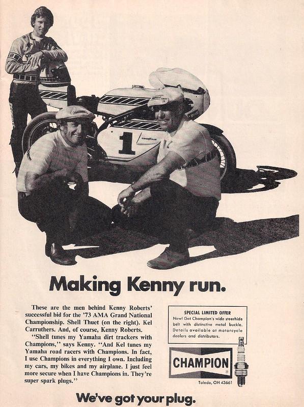 Champion spark plugs Kenny Roberts