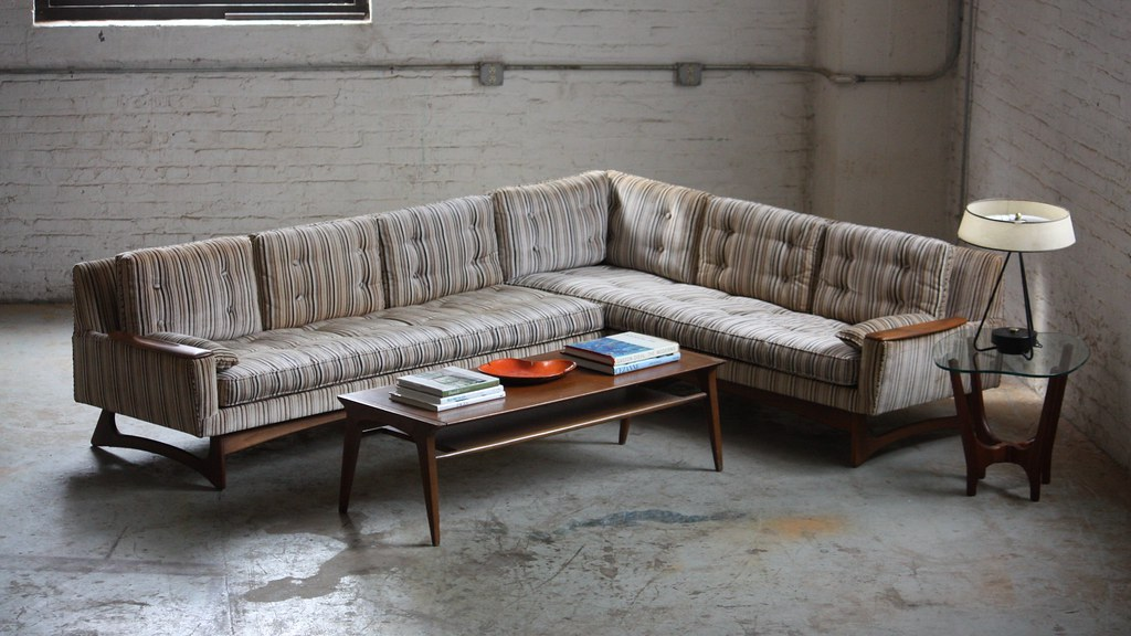 majestic mid century modern sculptural sectional sofa usa 1960s by kennyk