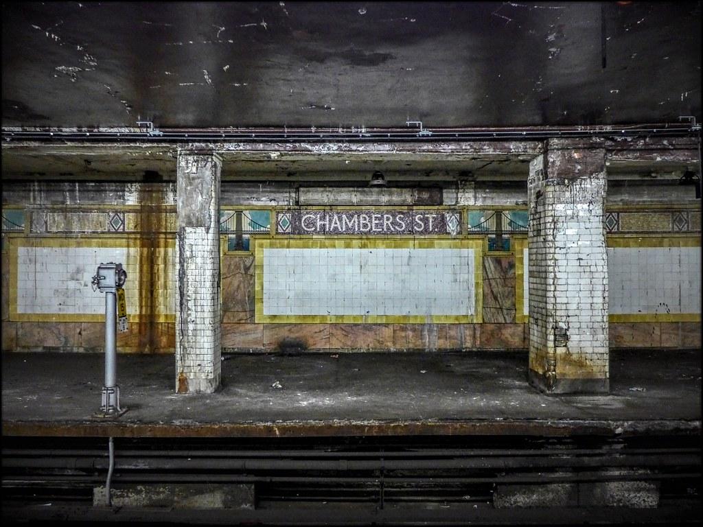 Chambers Street Station J Or Z Train Uptown Platform Vi Flickr - Nyc subway map j train