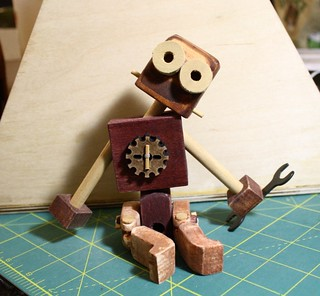 My wooden rag doll bot | by ohhmyhead
