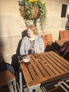 Sat outside in Leeds