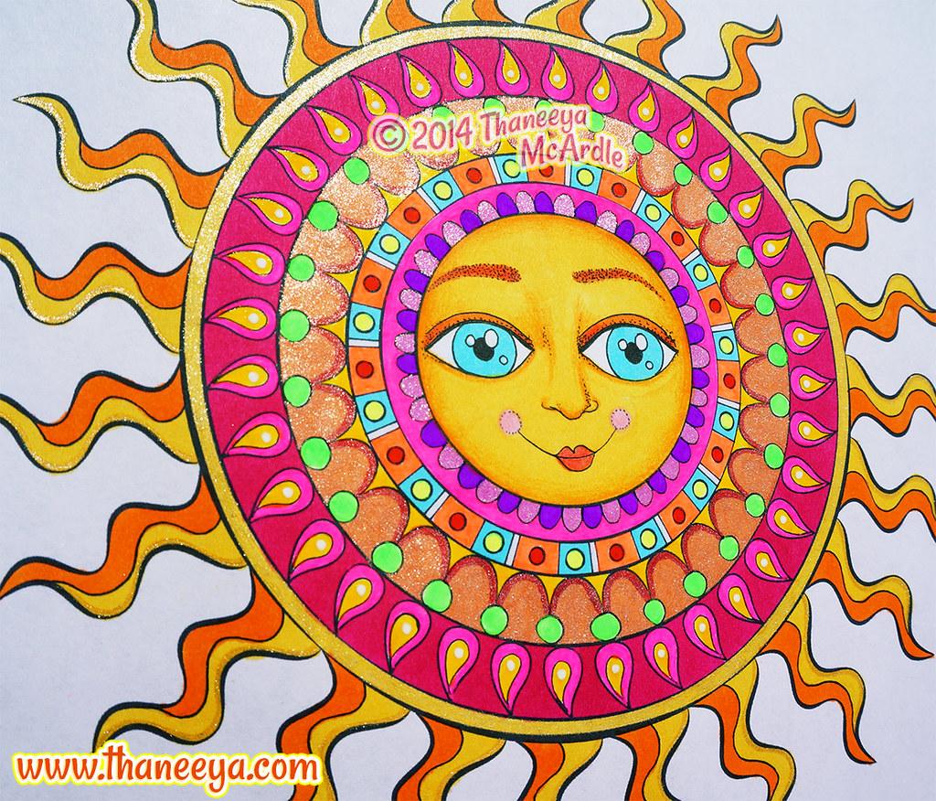 Colorful Sun Mandala By Thaneeya McArdle