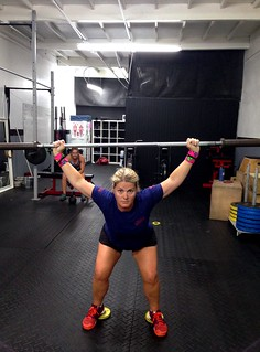 Overhead squats while wearing my Reebok Nano 4.0 | by AngryJulieMonday