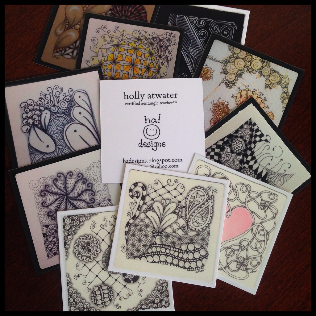 Zentangle® Inspired Art : SQUARE Business Cards | Yippee!!! … | Flickr