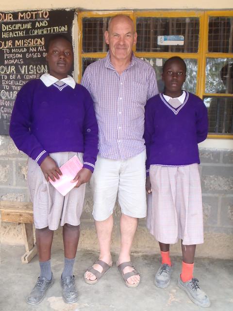 Brendan with Shiroo & Njeri