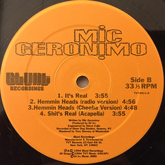 MIC GERONIMO:IT'S REAL(LABEL SIDE-B)